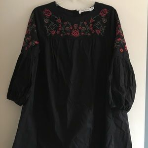 Dresses & Skirts - Embroidered Cotton Dress